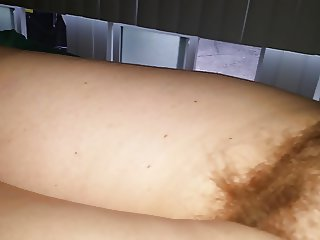 her tired hairy pussy mound,big tit at the crac of dawn
