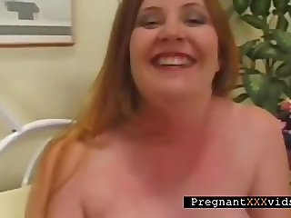 Nasty Mom To Be Masturbates In Bed