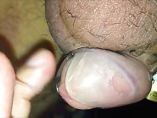 cum leaking from milking in chastity