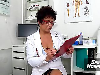 Czech big tits doctor Greta old young wankjob