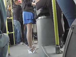 Upskirt on Girl In Blue