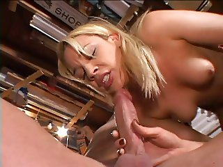 Blond loving the sexual action