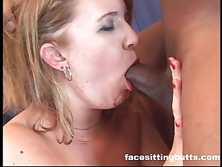 Double penetration fun for a nasty dirty blonde slut