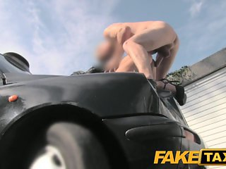 Fake Taxi Masseuse gets fucked on car bonnet