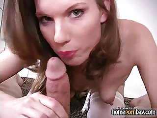 Blowjob from sexy amateur wife in hot amateur porn 1