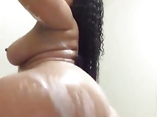 thick woman in the shower