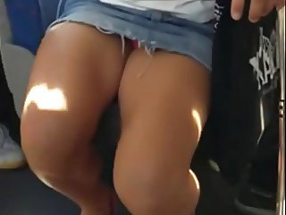 Bus Slut With Pink Panties