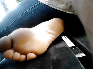 student sole on the bench
