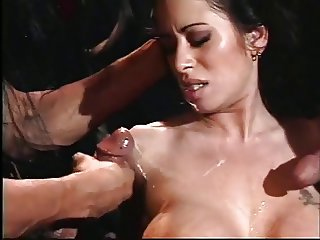 Cult members have threesome with hot brunette