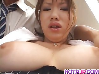 Nami Kimura gets fingers and cum from dongs