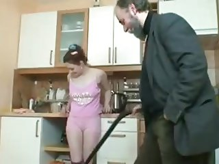 Teen Housewife Fucks For The Vacuum Cleaner !