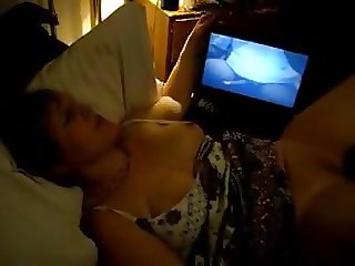Mature watching porn and getting off