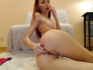 MsLily Double Dildo In Pussy&Anal
