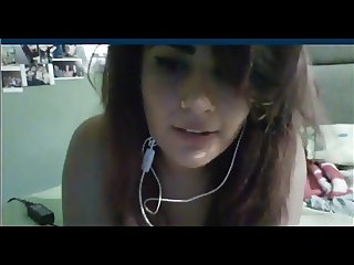 girl with huge boobs on skype (with sound)