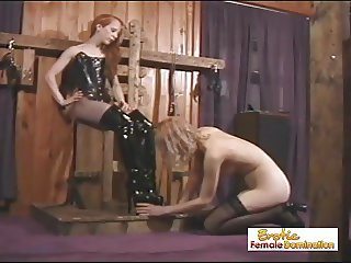 Angry Mistress Tortures Her Slave For Disobedience