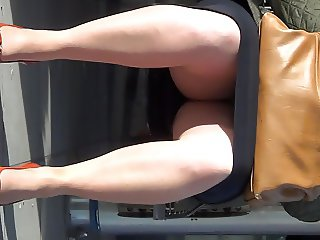 Buisness Mature Lady Shows Me Her Nyloned Legs