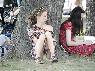 Flashing in public park Girls