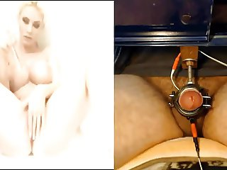 Cumsession with a blond big boobed Girl