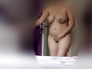 Big tits girl changing voyeur hidden spy cam