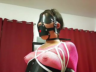 Asian Girl Chairtied