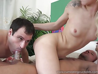 Elsa Jean Gets Fucked By Real Man in Front of Hubby