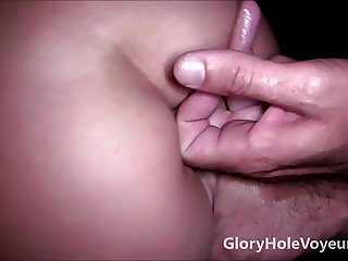 Gloryhole Redhead Sucks Hairy Dick