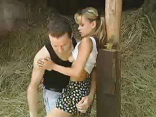 SB3 Tiny Teen Gets Fucked In The Barn !