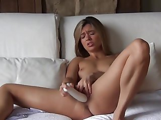 Super Hot Girl with Big Dildo