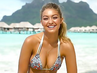 Gigi Hadid big titties in Sports Illustrated Outtakes