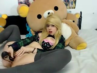 Blonde Teen Plays With Dildo - MyCamGirls365