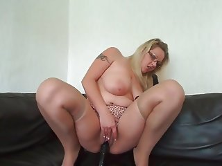 Mature wife big boobies dildo fun