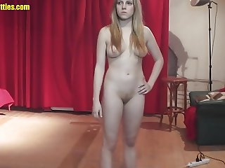 Blond and horny - the very first time