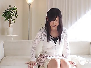 Fresh young Japanese teen on toyed