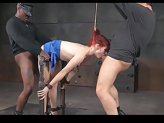 REDHEAD GIRL TIED UP AND FUCKED HARD