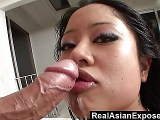 RealAsianExposed  Big Boobed Asian Babe Plowed and Facialize