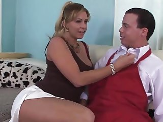 Blonde big tits mature milf fucks a oyunger guy