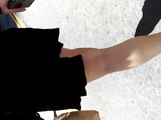 see thru black skirt at times