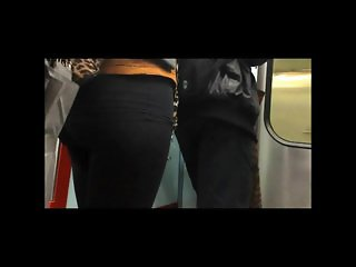touch ass at metro subway