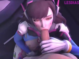 DVA and WidowMaker in Overwatch have sex