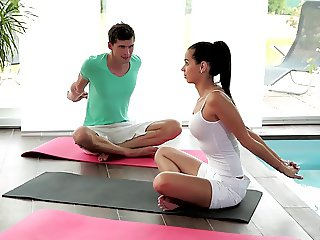 Relaxxxed - Ferrera Gomez hardcore yoga fuck session