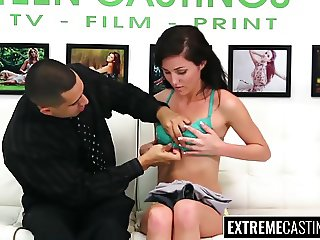 Brunette Rene Roulette brutally fucked