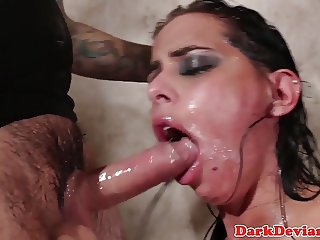 Brandy Aniston facefucked and humiliated