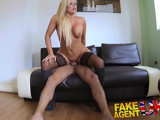 FakeAgentUK Sexy blonde MILF gets a good fucking in hardcore porn interview