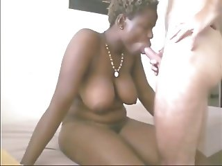 Interracial blow job to completion