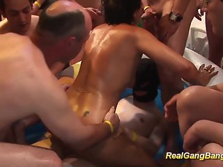oiled moms first real gangbang