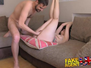 FakeAgentUK Casting threesome for horny couple