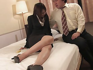 Pretty secretary gets facial and cream pie from two colleagues