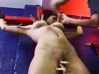 Fetish slave bitch in dungeon serves well