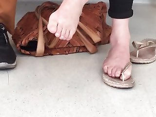 My wife's sexy feet at the dentist (Part 2)