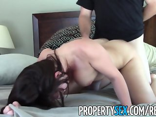 PropertySex - Young real estate agent motivated to sell house fucks client